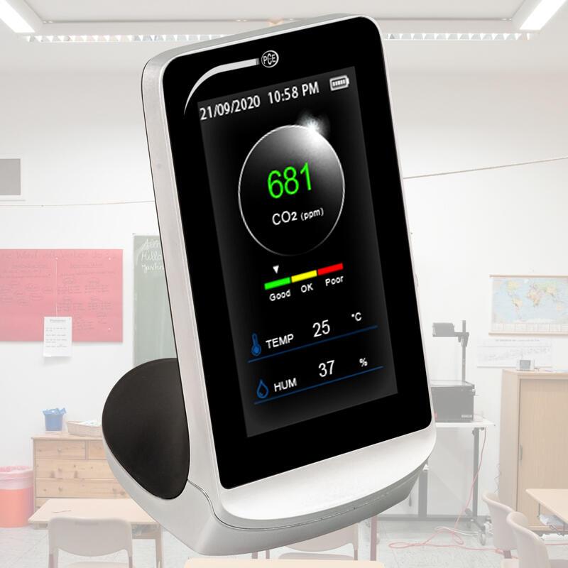 Luftqualitätsmessgerät PCE-CMM 5 für Klassenzimmer, Kindergärten, Büros