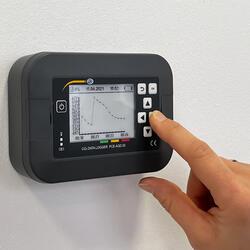 CO2 / Kohlenstoffdioxid Messgerät PCE-AQD 50 Display