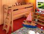 Spielbett Midibett Molly L2, Dahlhaus, Buche natur, weiß, schwarz, blau, …