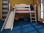 Spielbett Benni Rutsche Dahlhaus Kiefer weiß, natur, schwarz, blau, gelaugt