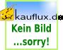 Klapphocker MARIELE - 37 cm breit - Chromfarben / Weiß